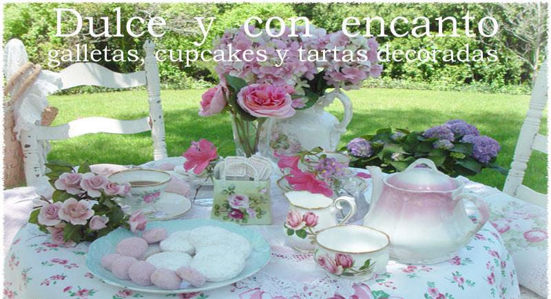 Dulce y con encanto. Cursos de galletas, cupcakes y tartas decoradas