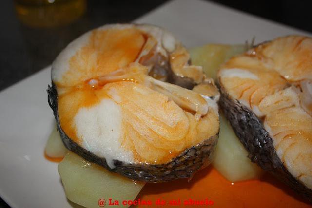 Merluza a la gallega for Cocinar raya a la gallega