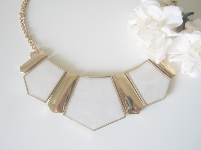 geometric+necklace statement+necklace statement+jewelry persunmall white+flowers