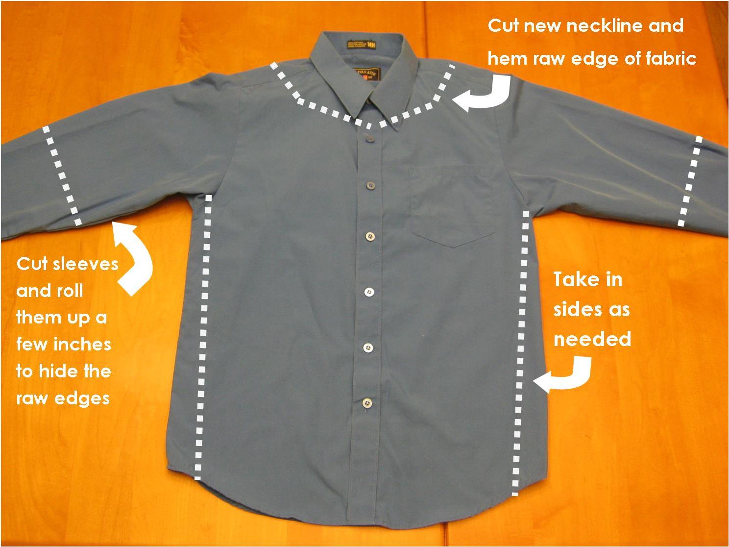 Making a living make men 39 s shirt refashion for How to put a picture on a shirt diy