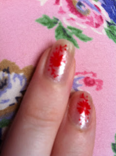 red flowers konad stamping