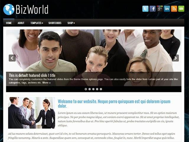 BizWorld - Free Wordpress Theme