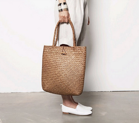 Straw tote by FLUTEOFTHEHOUR