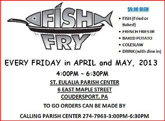 5-24  Fish Fry At St. Eulalia