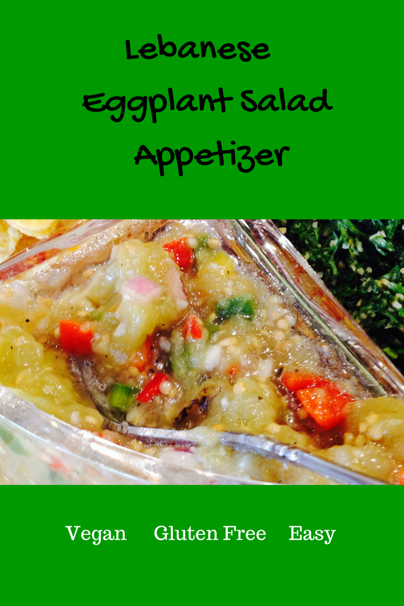 roasted eggplant and vegetable appetizer