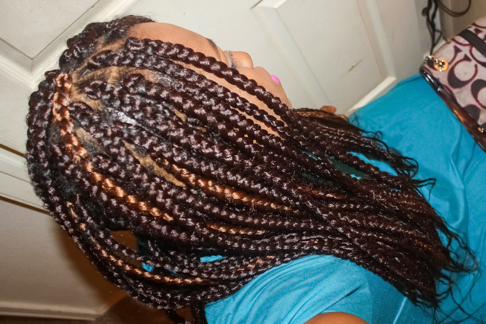 Ombre Box Braids Diy box braids i did with
