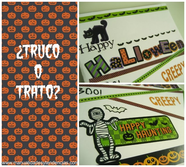 Scrapbooking: Tarjeta para Halloween / Halloween card / Carte pour Halloween