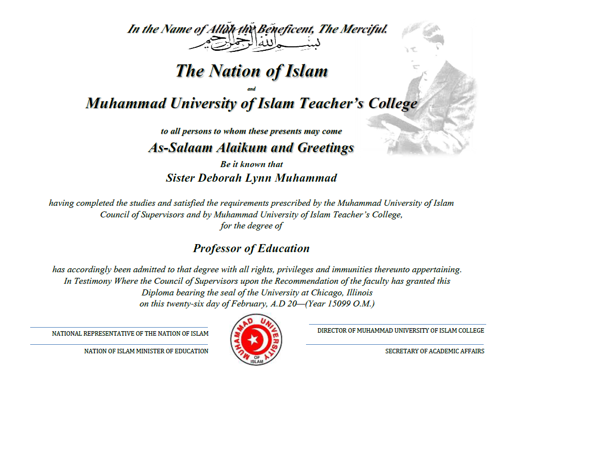 Supreme Wisdom Curriculum Muhammad University Of Islam Teachers