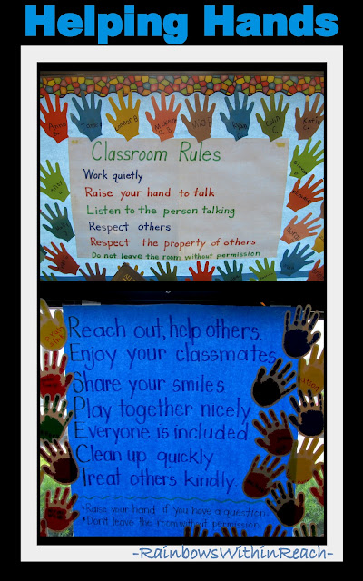 photo of: First Grade Classroom Rule Bulletin Boards Using Theme of Respect