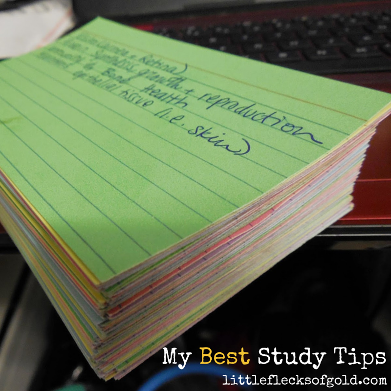 Great study tips for college and high school students!
