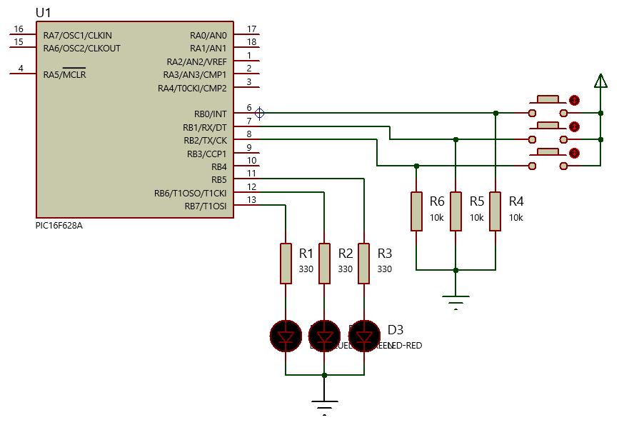 PIC: Controle de LED RGB com PIC16F628A