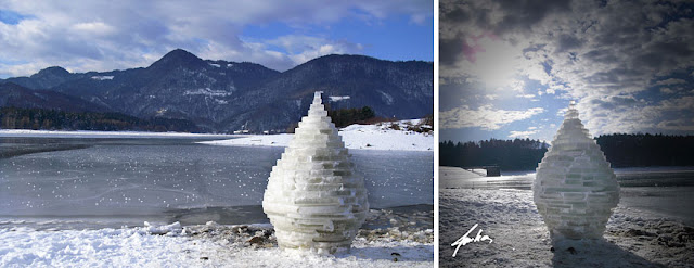 Land art of frost, ice and snow Miha Brinovec