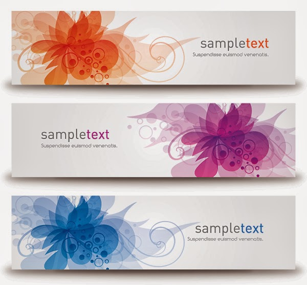 Blossom Banners Vector Graphic