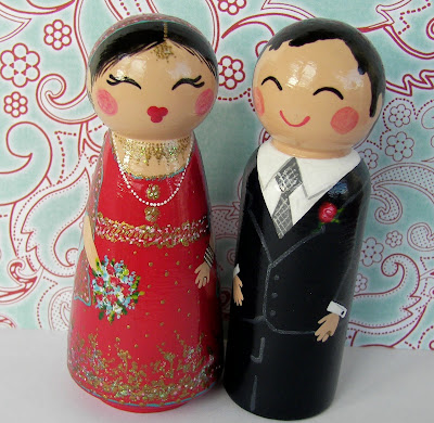 100 9424 - Beautiful Indian Bride & Groom Cake Toppers...