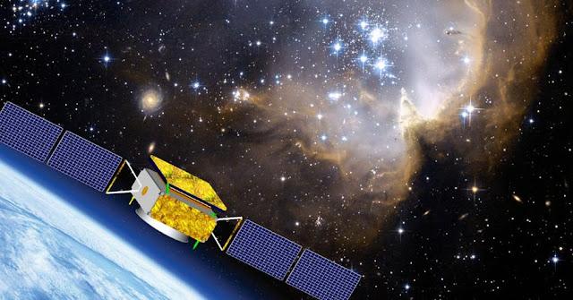 Artist's rendering of DAMPE satellite. Image Credit: dpnc.unige.ch
