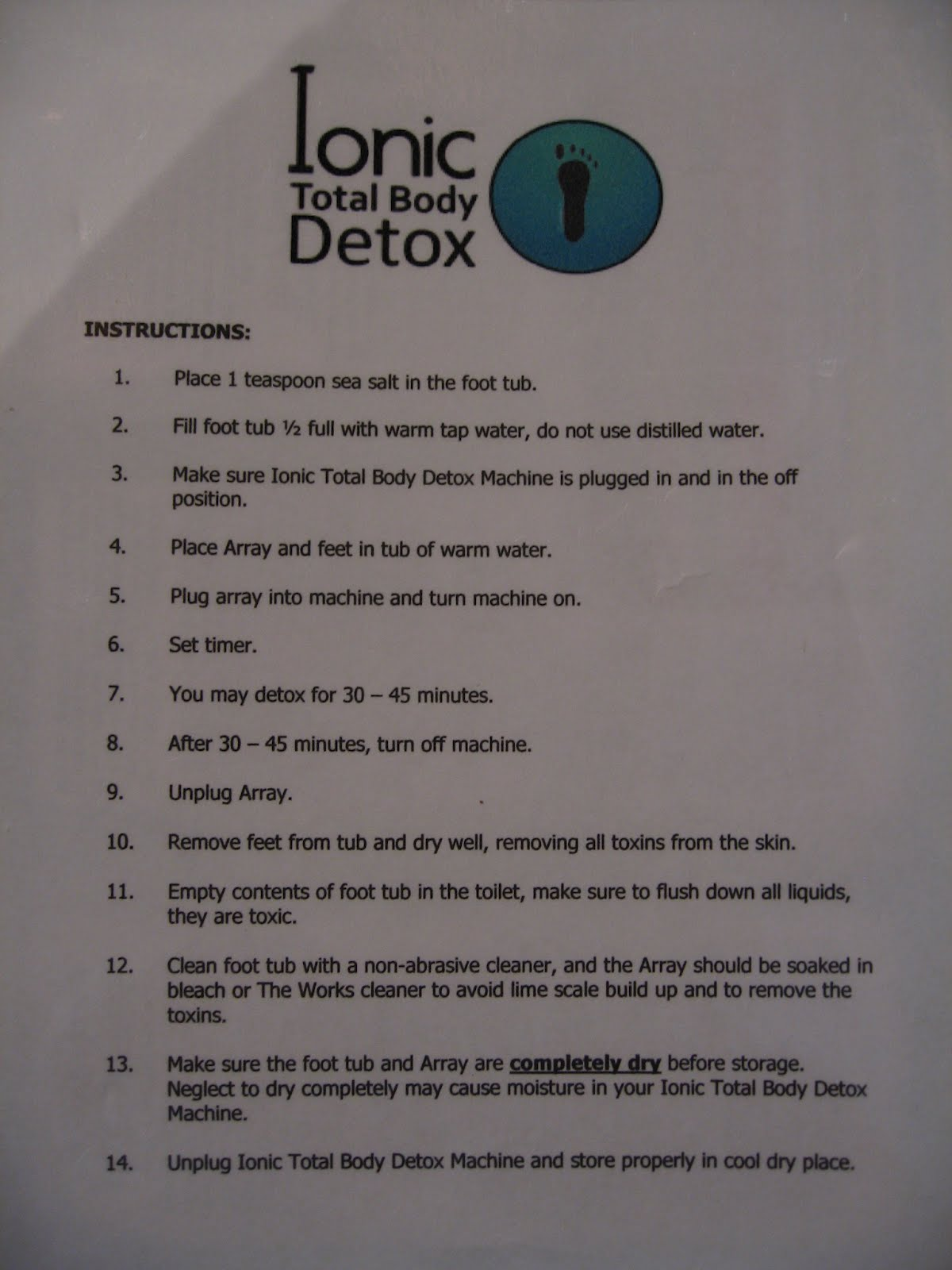 Systemic Candida Ionic Detox Foot Bath