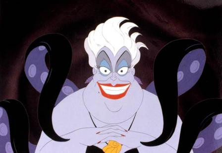 Ursula in The Little Mermaid 1989 movieloversreviews.blogspot.com
