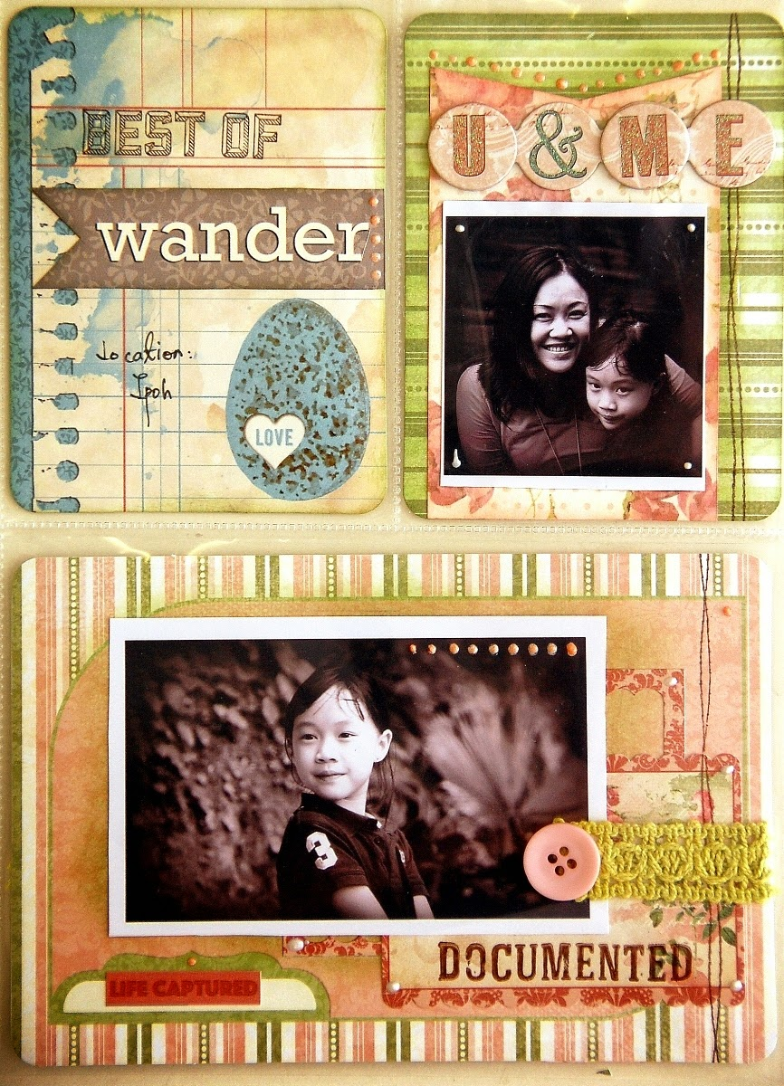 Love This Misc Me Pages by Irene Tan using BoBunny Garden Journal Collection