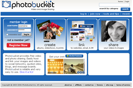 photobucket image sharing website