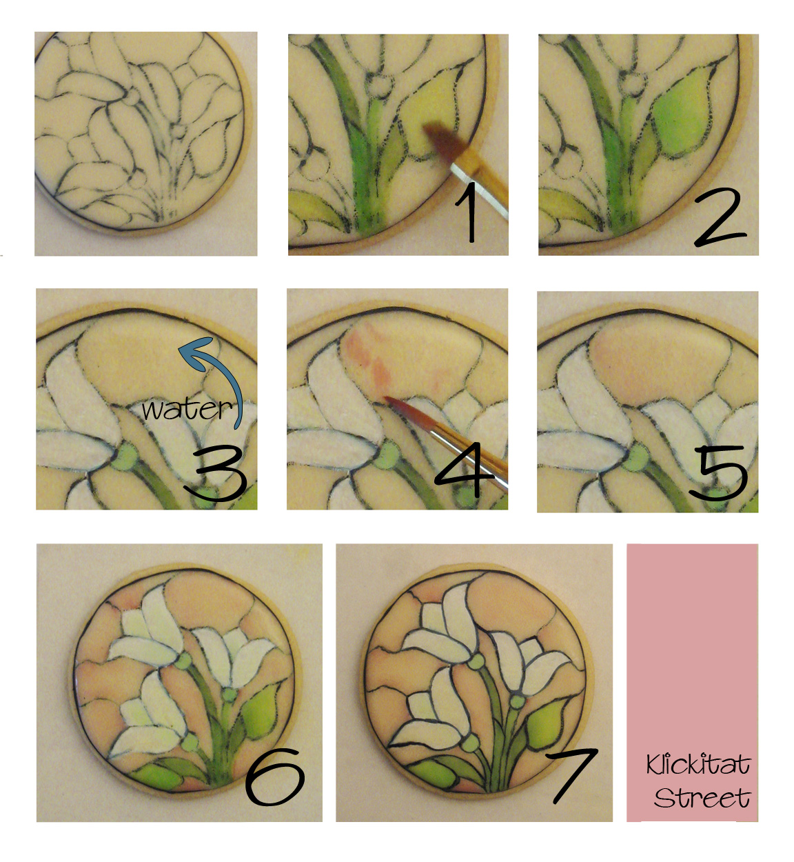 tutorial on painting stained glass window cookies