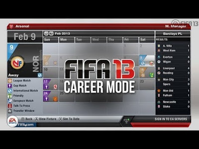 fifa 13 carriera