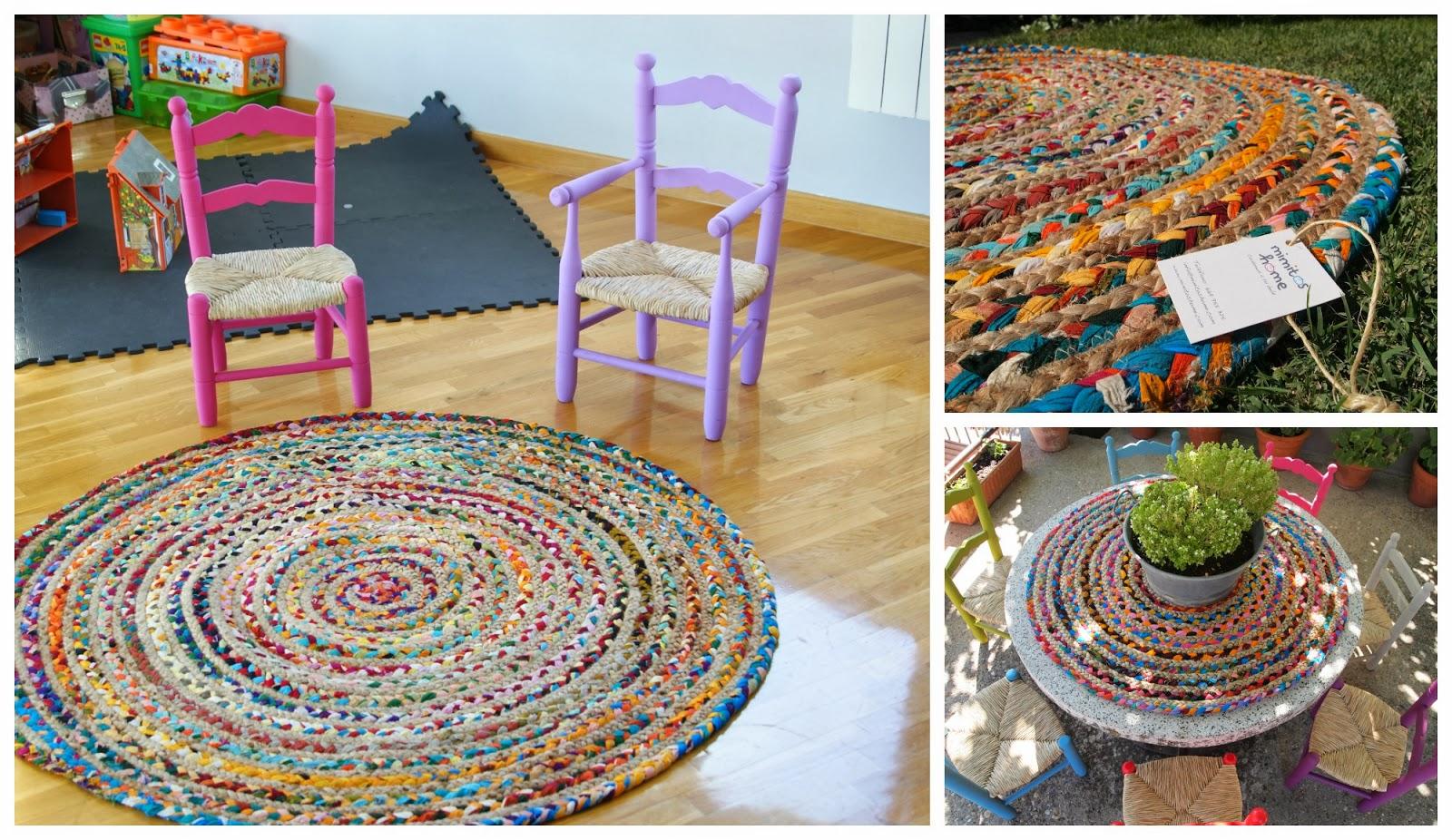 Mimitos home alfombras indias de telas y yute i dale - Alfombras redondas infantiles ...