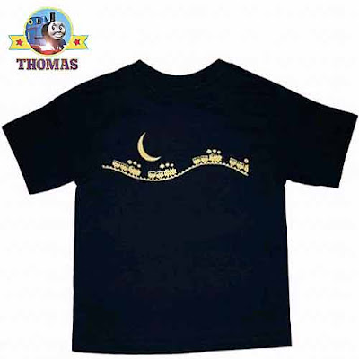 Childrens Halloween costume ideas Thomas tank engine clothing navy blue T-shirt 100 percent cotton