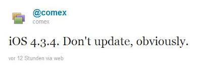 iOS 4.3.4 veröffentlicht, Jailbreaker aufgepasst