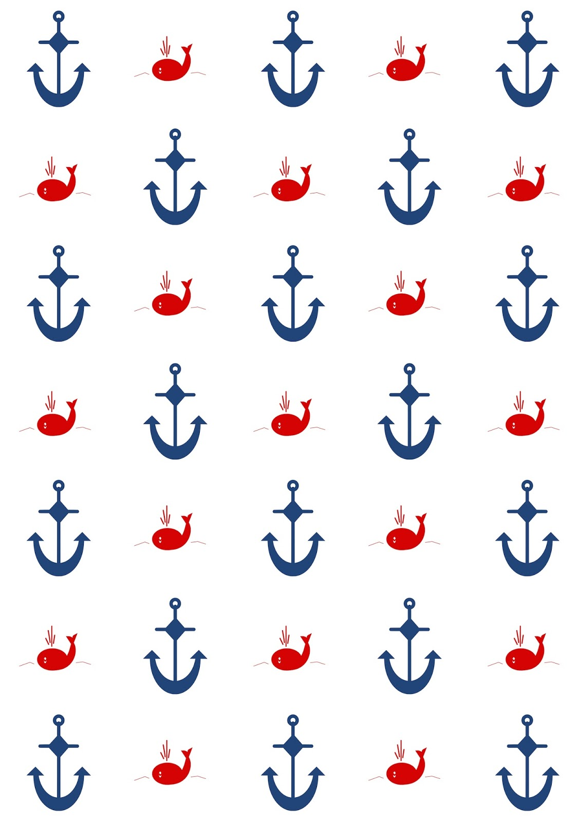 This is an image of Gutsy Printable Anchor Template