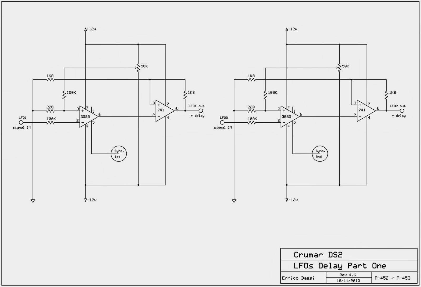 Schema elettrico lfo