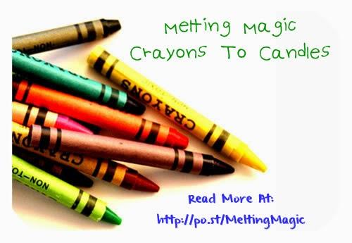 Melting Magic Crayons To Candles