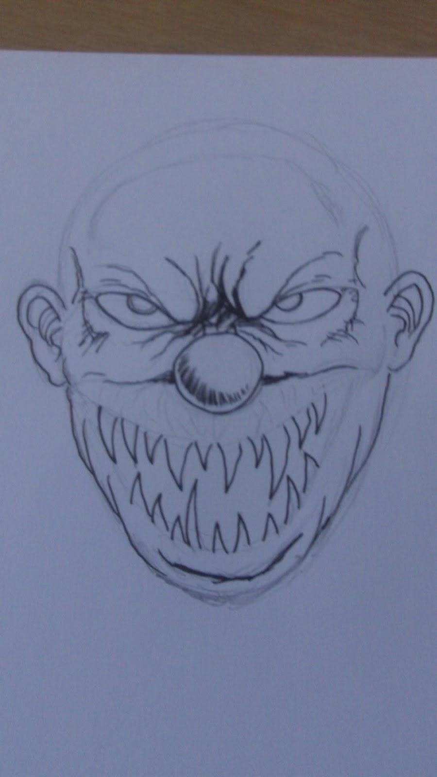 Wayne Tully Fantasy Art: How To Draw A Demon Clown Face