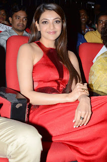 Actress Kajal Agarwal Latest Pictures in Long Dress at Temper Movie Audio Launch Function  18.JPG