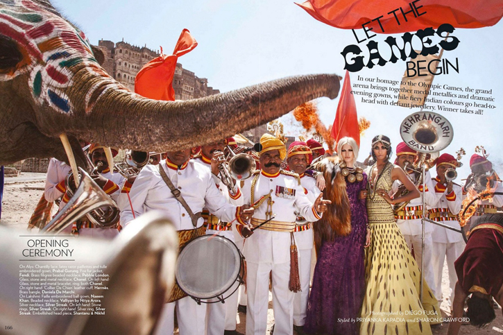 Let The Games Begin, Indian Vogue, July 2012, Vogue Olympic Shoot, Diego Fuga