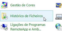 Como ativar o histórico de arquivos do Windows 8