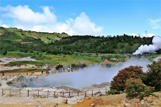 The Crater Sikidang Dieng