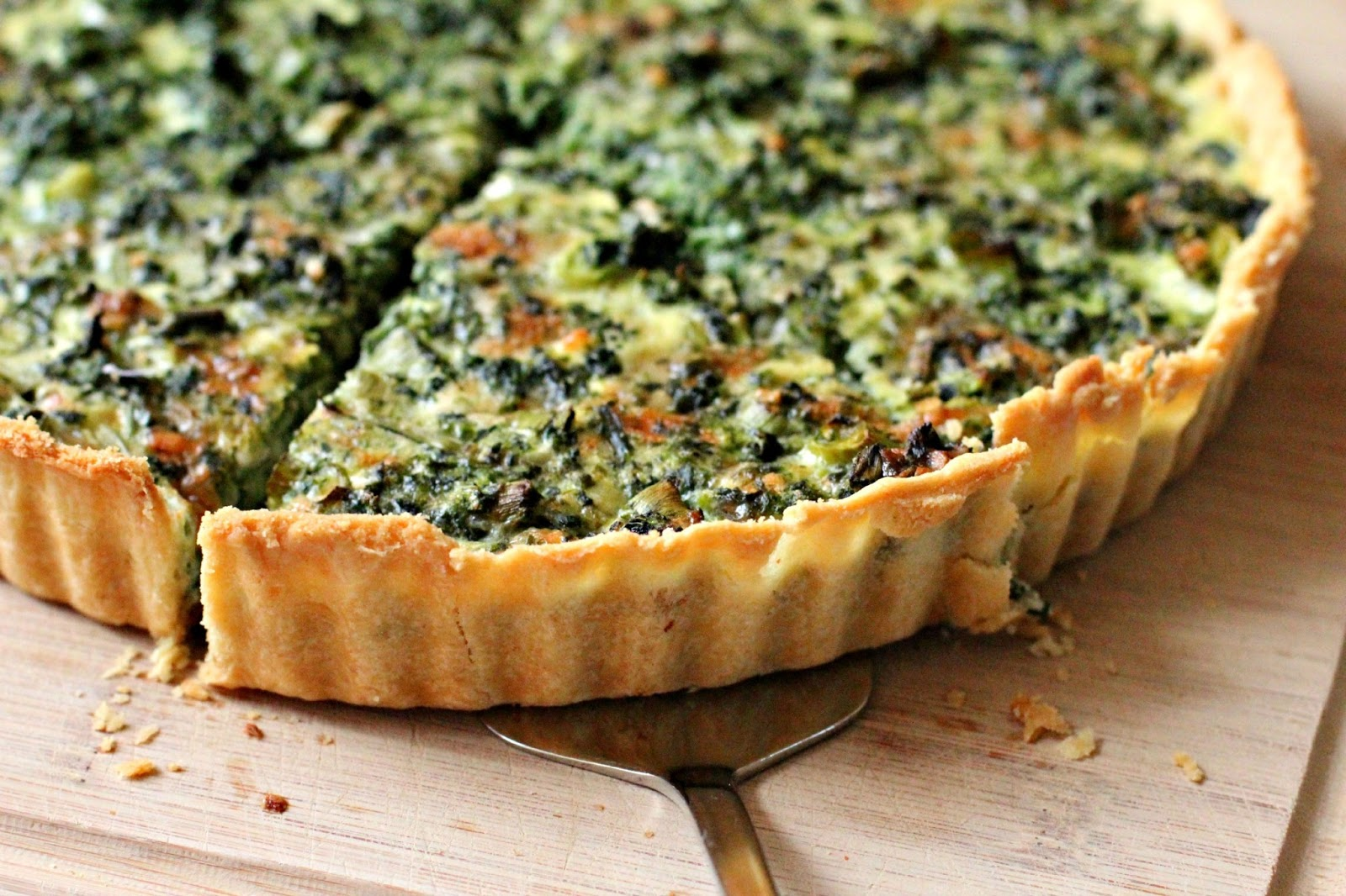 Milk and Honey: Spinach Quiche