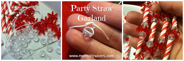 Paper Straw Garland DIY with Mom's Lifesavers