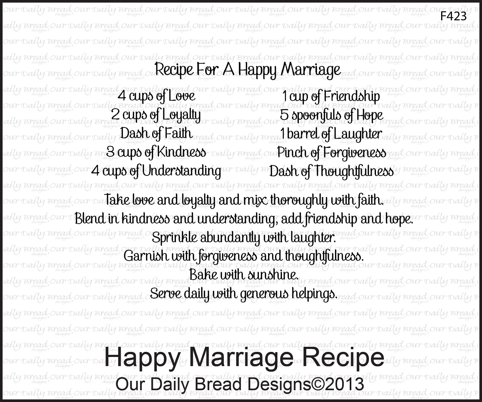 It is an image of Bewitching Recipe for a Happy Marriage Printable