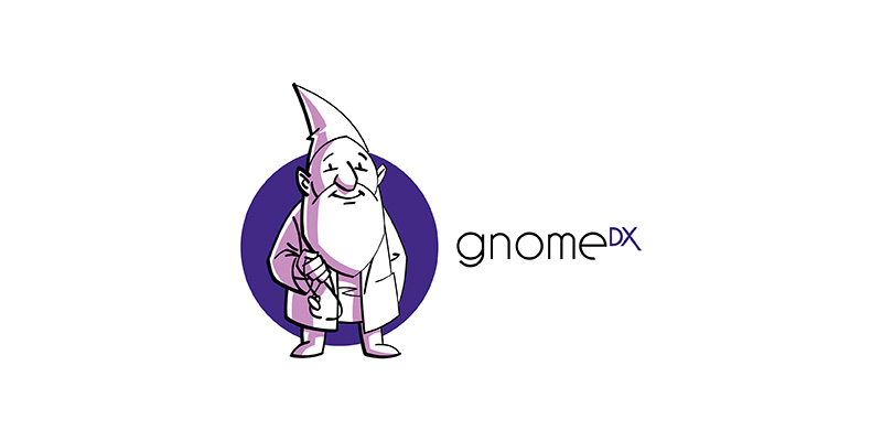 gnome dx genetic test lab logo design
