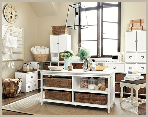 Haus design basketweave for Pottery barn laundry room