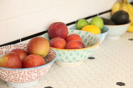 colorful fruit bowls