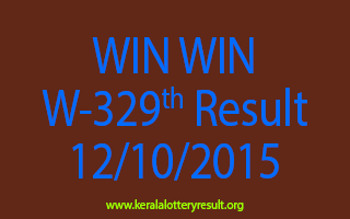 WIN WIN W 329 Lottery Result 12-10-2015