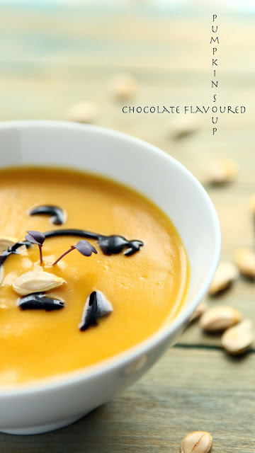 chocolate flavoured pumpkin soup