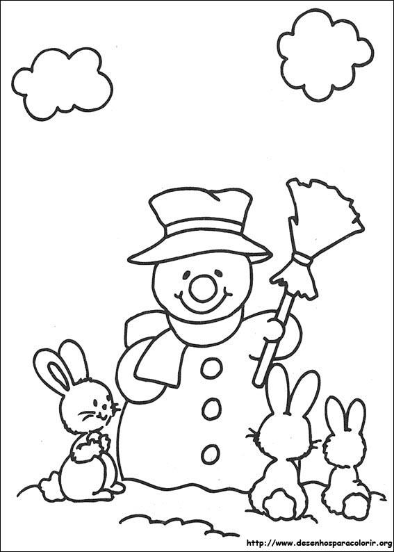 Colorir imagens desenho de natal para colorir - Coloriage petit noel ...