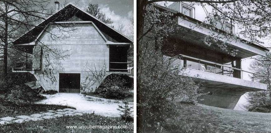 Casa moderna brutalista 1972 Eslovenia