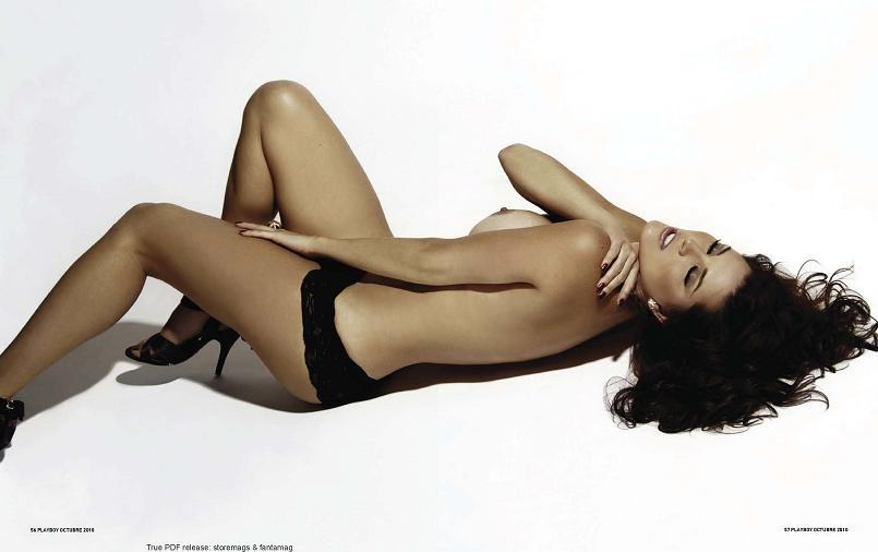Muy Guapa En Topless Y Tanga Alicia Machado Playboy Venezuela
