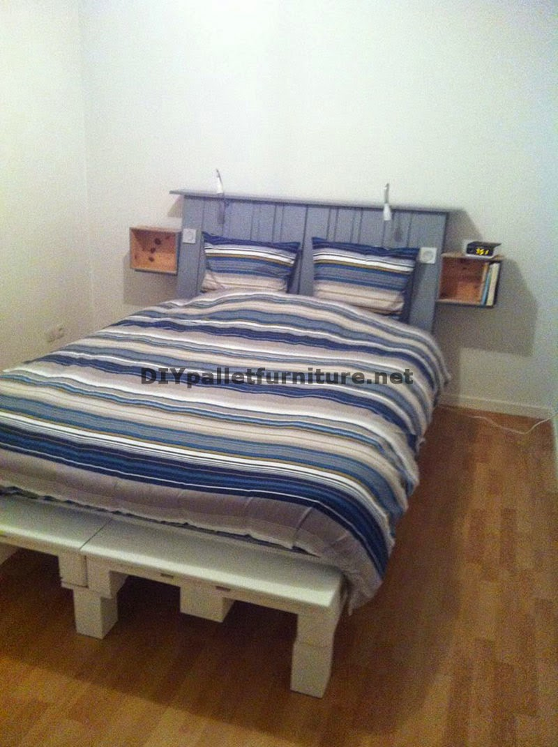 mueblesdepaletsnet fantstica cama con cabecero hecha con 6 europalets - Europalets