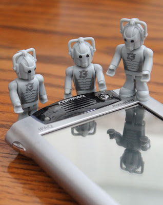 doctor who cybermen toys by an pocket pc