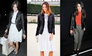 La combinación de una casaca de cuero con vestidos de encaje o de cualquier .
